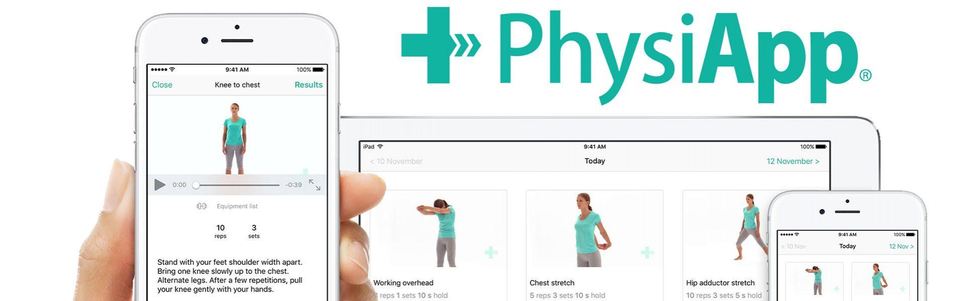 Gratis Physitrack app bij FysioPraktijk Bas